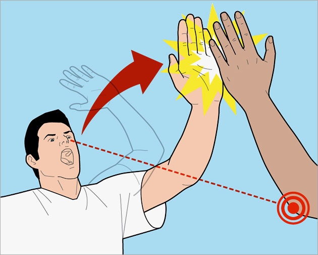 How to have a successful high five